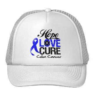 Colon Cancer Hope Love Cure Mesh Hat