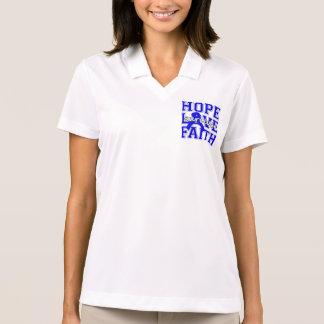 Colon Cancer Hope Love Faith Polo Shirt
