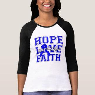 Colon Cancer Hope Love Faith Tshirt