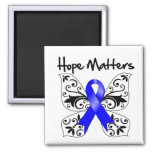 Colon Cancer Hope Matters 2 Inch Square Magnet