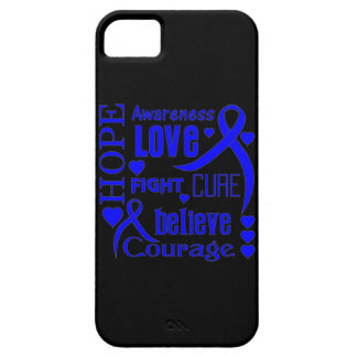 Colon Cancer Hope Words Collage iPhone SE/5/5s Case