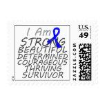 Colon Cancer I Am Strong Survivor Postage Stamp