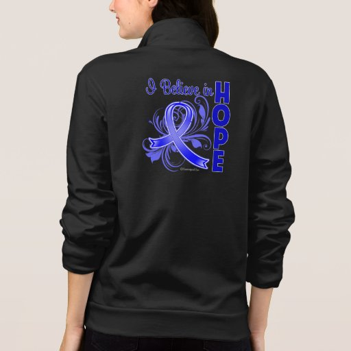 Colon Cancer I Believe in Hope Printed Jacket