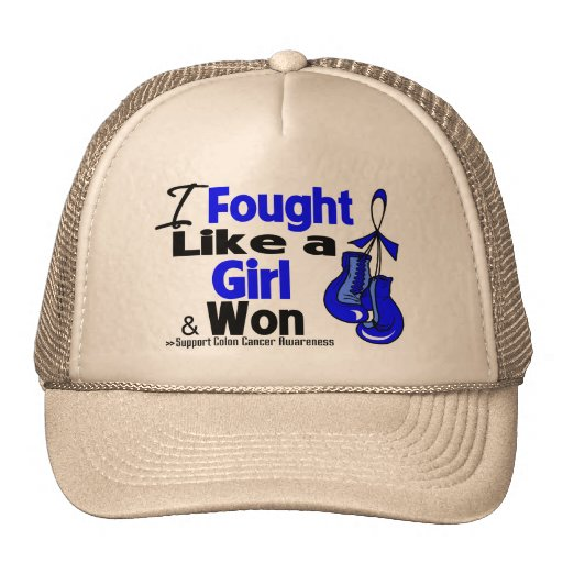 Colon Cancer I Fought Like a Girl and Won Trucker Hat