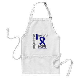 Colon Cancer I Hold On To Hope Adult Apron