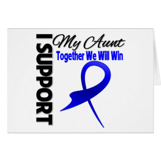 Colon Cancer I Support My Aunt Greeting Card