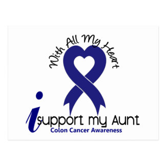 Colon Cancer I Support My Aunt Post Card