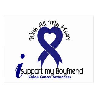 Colon Cancer I Support My Boyfriend Postcard