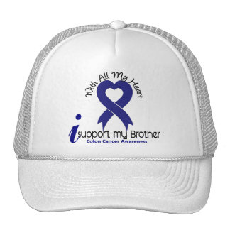 Colon Cancer I Support My Brother Trucker Hat