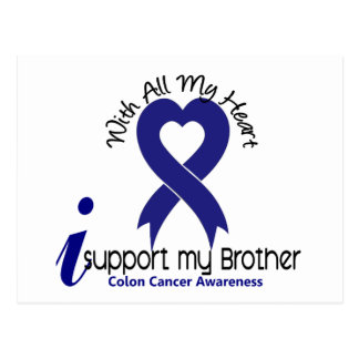 Colon Cancer I Support My Brother Postcard