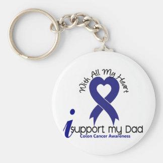 Colon Cancer I Support My Dad Basic Round Button Keychain