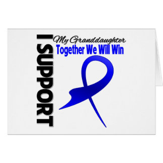 Colon Cancer I Support My Granddaughter Greeting Card