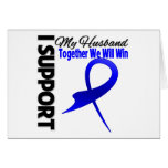 Colon Cancer I Support My Husband Greeting Card