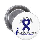 Colon Cancer I Support My Nana 2 Inch Round Button