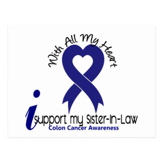 Colon Cancer I Support My Sister-In-Law Postcard
