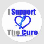 Colon Cancer I Support The Cure Round Stickers