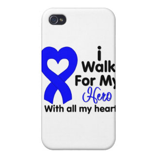 Colon Cancer I Walk For My Hero Cases For iPhone 4