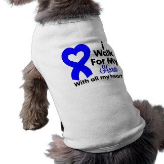 Colon Cancer I Walk For My Hero Dog T Shirt