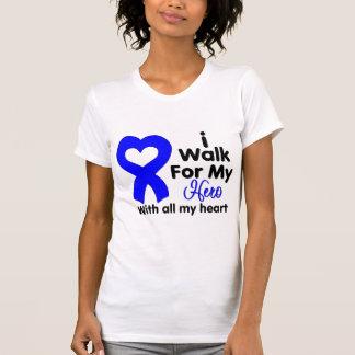 Colon Cancer I Walk For My Hero T-shirt
