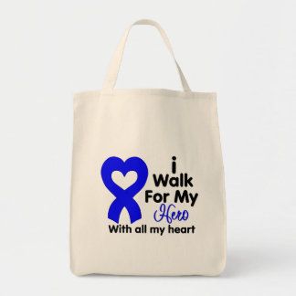 Colon Cancer I Walk For My Hero Tote Bag