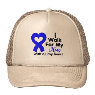 Colon Cancer I Walk For My Hero Trucker Hat