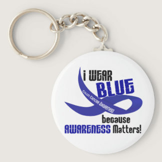 COLON CANCER I Wear Blue For Awareness 33 Keychain