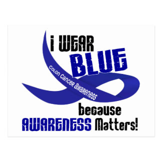 COLON CANCER I Wear Blue For Awareness 33 Postcard