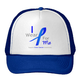 Colon Cancer I Wear Blue For Me Trucker Hats