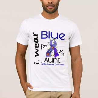 Colon Cancer I Wear Blue For My Aunt 43 T-Shirt