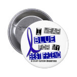 Colon Cancer I Wear Blue For My Best Friend 37 2 Inch Round Button