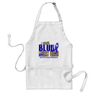 Colon Cancer I WEAR BLUE FOR MY BEST FRIEND 6.3 Adult Apron