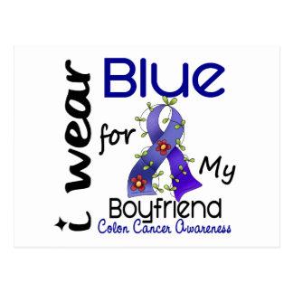 Colon Cancer I Wear Blue For My Boyfriend 43 Postcard