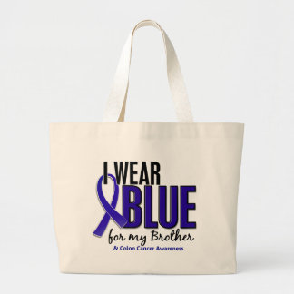 Colon Cancer I Wear Blue For My Brother 10 Bag