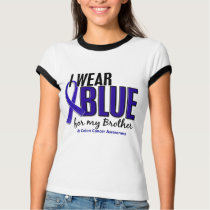 Colon Cancer I Wear Blue For My Brother 10 T-Shirt