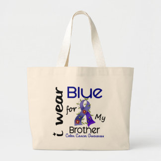 Colon Cancer I Wear Blue For My Brother 43 Tote Bags