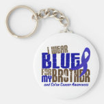 Colon Cancer I WEAR BLUE FOR MY BROTHER 6.3 Keychain