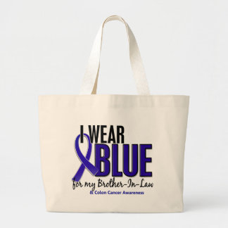Colon Cancer I Wear Blue For My Brother-In-Law 10 Bags