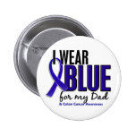 Colon Cancer I Wear Blue For My Dad 10 2 Inch Round Button
