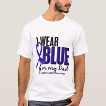 Colon Cancer I Wear Blue For My Dad 10 T-Shirt