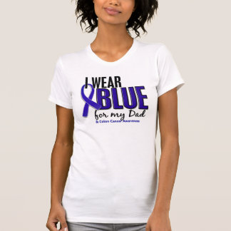 Colon Cancer I Wear Blue For My Dad 10 T-Shirt