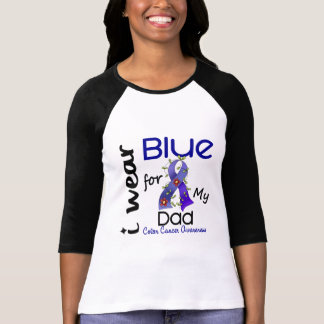 Colon Cancer I Wear Blue For My Dad 43 Tee Shirt