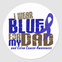 Colon Cancer I WEAR BLUE FOR MY DAD 6.3 Classic Round Sticker
