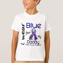 Colon Cancer I Wear Blue For My Daddy 43 T-Shirt
