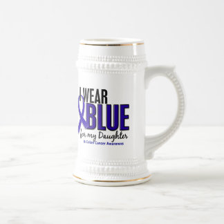 Colon Cancer I Wear Blue For My Daughter 10 Beer Stein