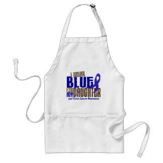 Colon Cancer I WEAR BLUE FOR MY DAUGHTER 6.3 Adult Apron