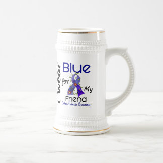 Colon Cancer I Wear Blue For My Friend 43 Beer Stein