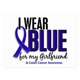 Colon Cancer I Wear Blue For My Girlfriend 10 Postcard