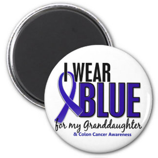 Colon Cancer I Wear Blue For My Granddaughter 10 2 Inch Round Magnet