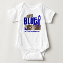 Colon Cancer I WEAR BLUE FOR MY GRANDMA 6.3 Baby Bodysuit