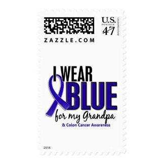 Colon Cancer I Wear Blue For My Grandpa 10 Postage
